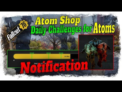Fallout 76 Atom Shop Notification (12/10/19) offers Basic Power Armor Paints & Daily Atom Challenges