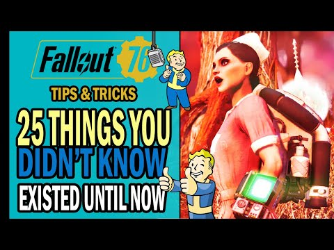 Fallout 76 – 25 THINGS You Didn't Know Existed Until Now 🤩 (But You Should!) | Tips & Tricks