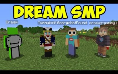 Minecraft Dream SMP with Dream, MrBeast, Tommyinnit and GeorgeNotFound