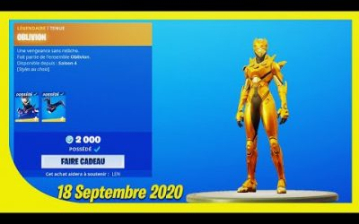 BOUTIQUE FORTNITE du 18 Septembre 2020 ! ITEM SHOP September 18 2020 !