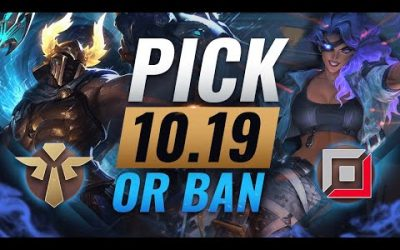 OP PICK or BAN: BEST Builds For EVERY Role – League of Legends Patch 10.19