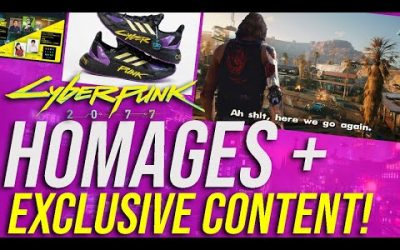 Cyberpunk 2077 News – Exclusive Content At TGS, GTA 5 Homage, Adidas X Cyberpunk 2077 Sneakers!