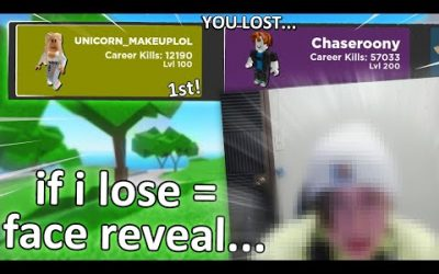 if i lose, i face reveal… (Arsenal Roblox)