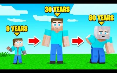 CHANGING My AGE In MINECRAFT!