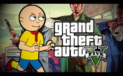 Caillou Travels Into The Grand Theft Auto V Game And Gets Grounded
