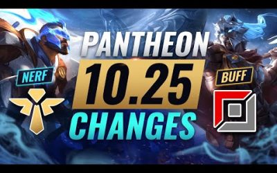 UPCOMING PANTHEON CHANGES: Support NERFED + Solo Lanes BUFFED – League of Legends Patch 10.25
